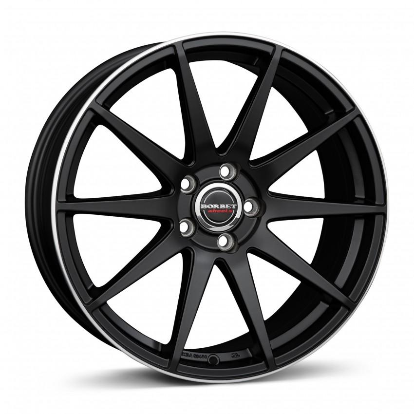 black rim polished matt 19\'&20\'