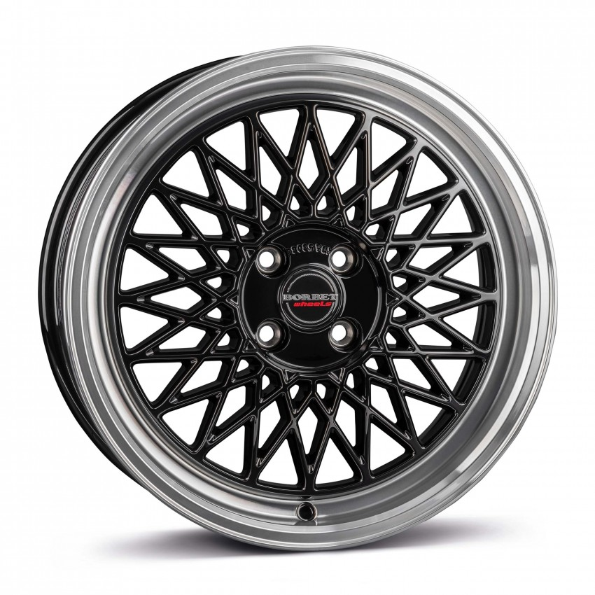 black rim polished 4-Loch