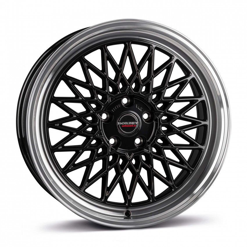 black rim polished 5-Loch