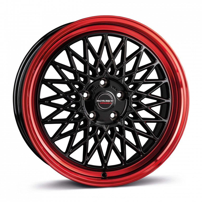 black rim red 5-Loch