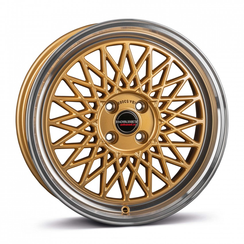 gold rim polished 4-Loch