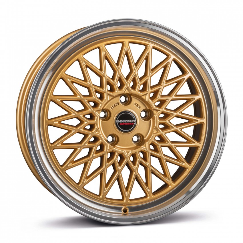 gold rim polished 5-Loch