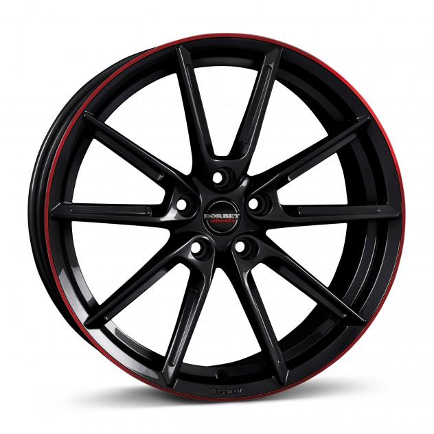 black glossy rim red 19\'
