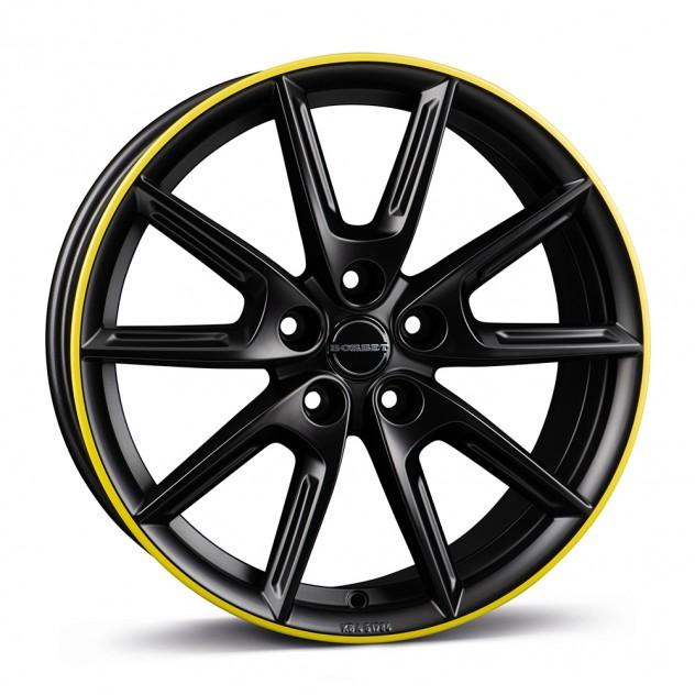 black matt rim yellow