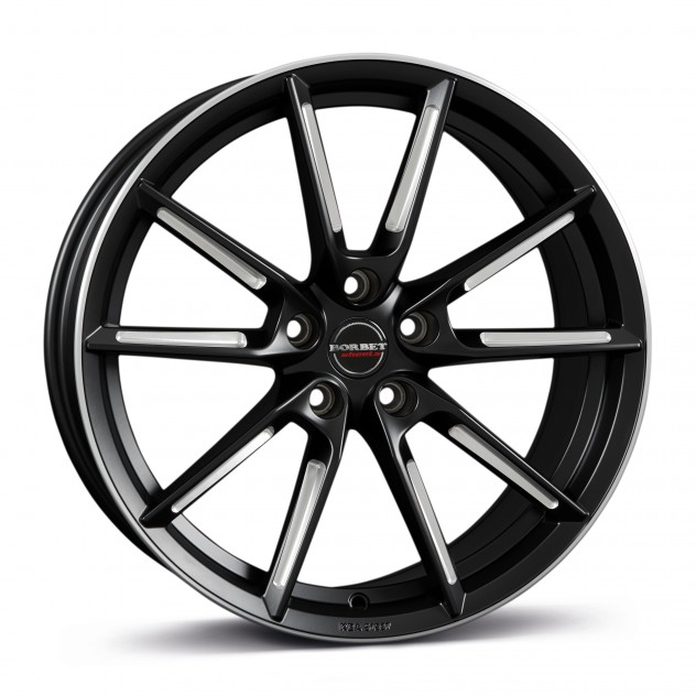 black matt spoke rim polished 19\'