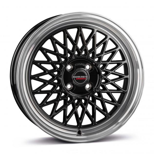 black rim polished 4-Loch