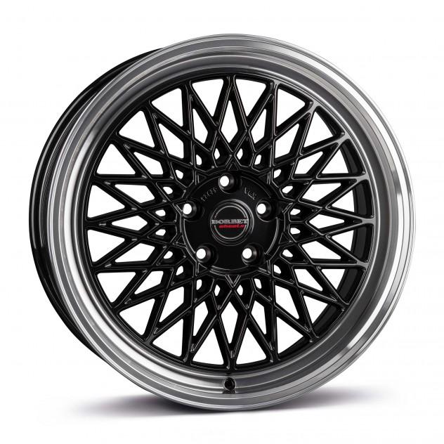 black rim polished 5-Loch