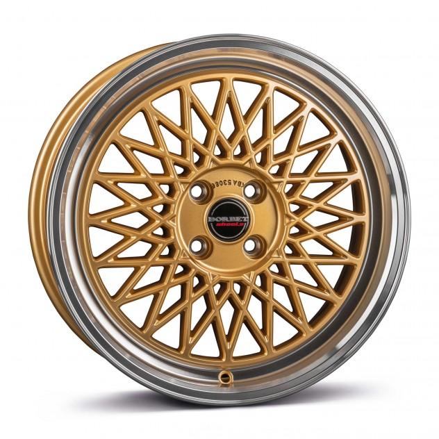 gold rim polished 4-Loch