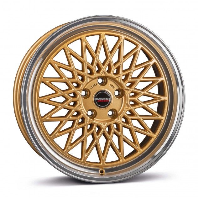 gold rim polished 5-Loch