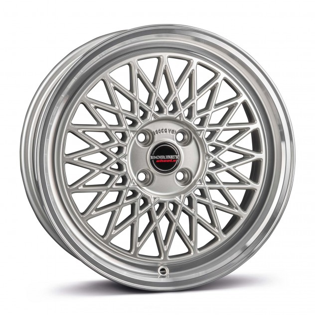 silver rim polished 4-Loch