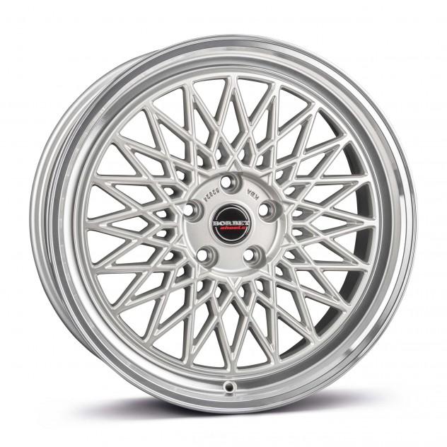 silver rim polished 5-Loch